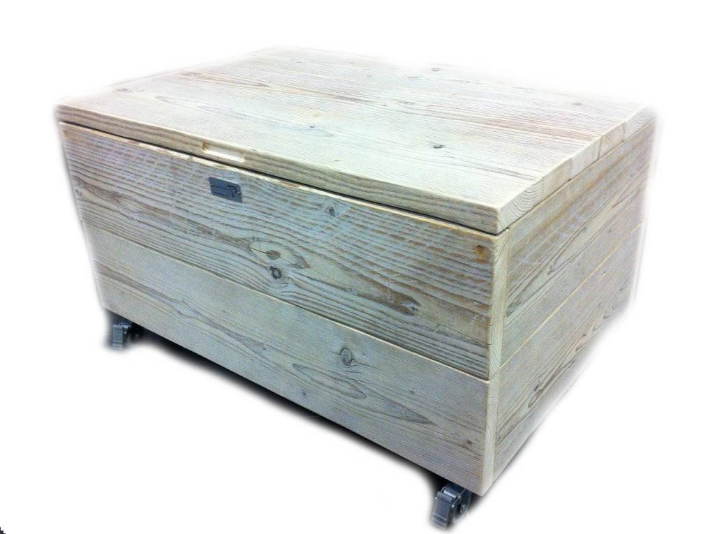 Kist van steigerhout maken, dekenkist en speelgoedkist