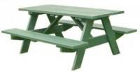Rechthoekig model picknicktafel om zelf te bouwen.