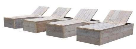 Steigerhouten tuinbedden om zelf te maken, ligbed van hout.