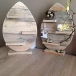 Wandpaneel, gemaakt van palletplanken.