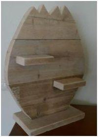 Maak dit houten paasei zelf van steigerhout - Deco lounge hout ...