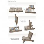 Bouwtekening om een stoel te maken van pallets.
