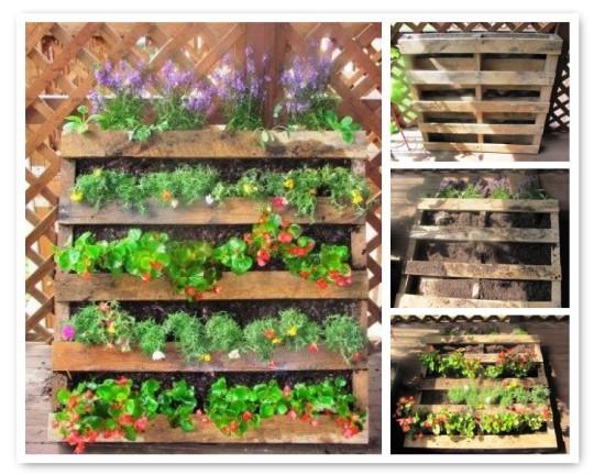 Maak een hangtuin van pallets twee manieren om hangtuintjes te maken - Decoreren buitenmuur ...