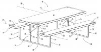 Doe het zelf meubelen van steigerhout en buizen van steigers