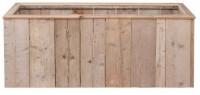 Maak deze steigerhout plantenbakken zelf met de gratis bouwtekeningen.