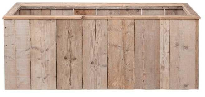 Maak deze bloembakken met steigerhout of de planken van pallets.