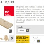 Praxis steigerhout van 19.5 cm. breed en 2.5 meter lang.