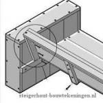 Als laatste monteer je de rugleuning aan de tuinstoel, detail bouwtekening voor steigerhouten stoelen.