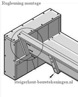 Bouwtekeningen voor een steigerhout tuinstoel xl for Steigerhouten bank bouwtekening