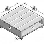 Maak deze salontafel van steigerplanken of met een houten pallet.