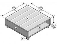 Maak deze tafel in drie stappen van steigerhout planken.