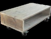 Salontafel naar voorbeeld van de bouwtekening op steigerhout-bouwtekeningen.nl