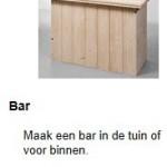 Bar van steigerhout zelf maken.