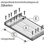 Cando bouwtekening stappenplan voor een bar van steigerhout stap1