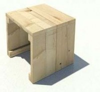 Steigerhout met houtolie behandeld.