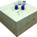 Praxis steigerhout bouwpakket voor een hocker tafel.