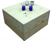 Steigerhout bijzettafel maken met bouwpakket en instructies.