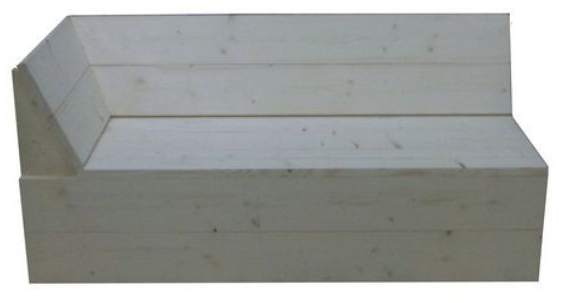 Steigerhout hoekbank eindelement als bouwpakket for Bouwpakket steigerhout