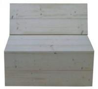 Steigerhout hoekbank bouwpakket, bouwelement voor een meter.