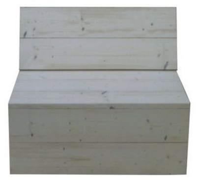 Hoekbank bouwpakket voor steigerhout n meter element for Bouwpakket steigerhout