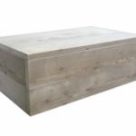 Maak zelf een tafel van steigerplanken naar dit model.