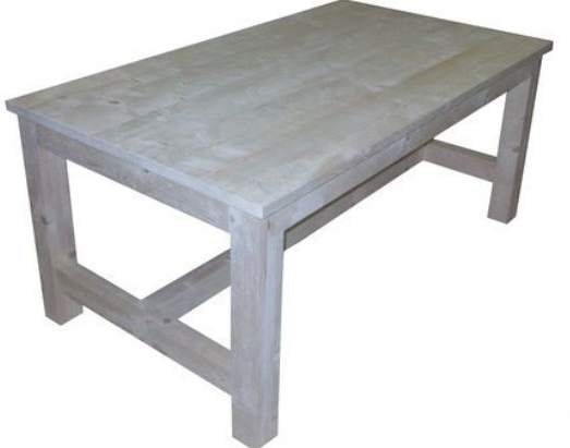 Steigerhout kloostertafel als bouwpakket met bouwtekening for Bouwpakket steigerhout