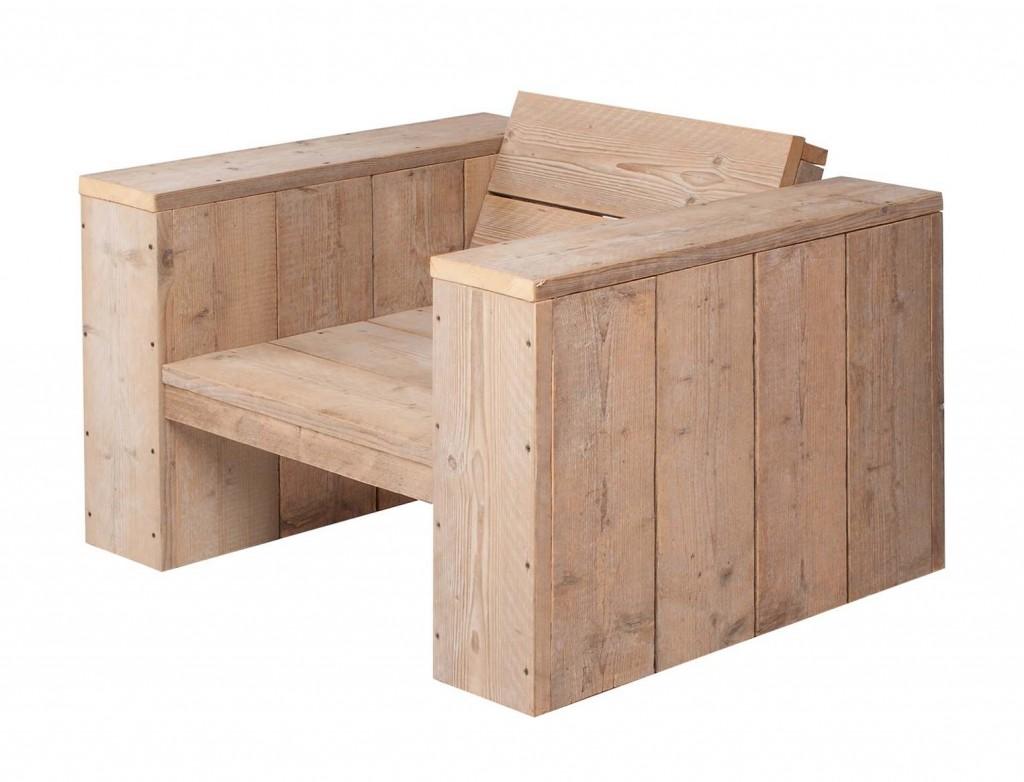 ... bouwtekening voor steigerhout, een loungestoel voor binnen en buiten