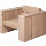 Maak deze tuinstoel zelf met de eenvoudige bouwtekening voor steigerhout, een loungestoel voor binnen en buiten.