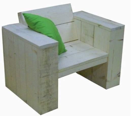 Lounge stoel bouwpakket voor steigerhout.