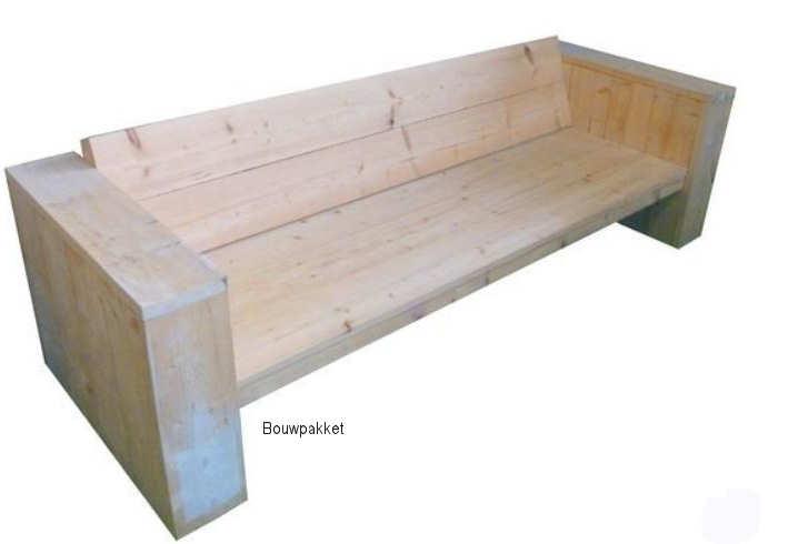 Steigerhout loungebank bouwpakket.