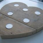 Romantisch hart van steigerhout voor Valentijnsdag.