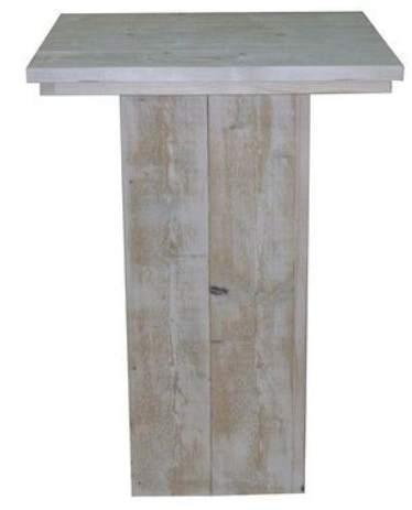 Steigerhout statafel maken bouwpakket met bouwtekening for Bouwpakket steigerhout