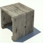Maak dit bijzettafeltje zelf van oud hout.