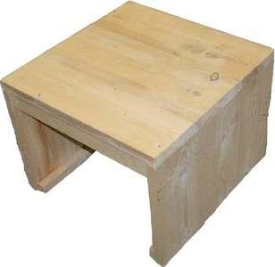 Steigerhout tafeltje behandelen met whitewash of staalwol for Bijzettafel steigerhout