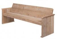 Tuinbankje om zelf te maken van steigerhout, de bouwtekening staat op deze pagina.