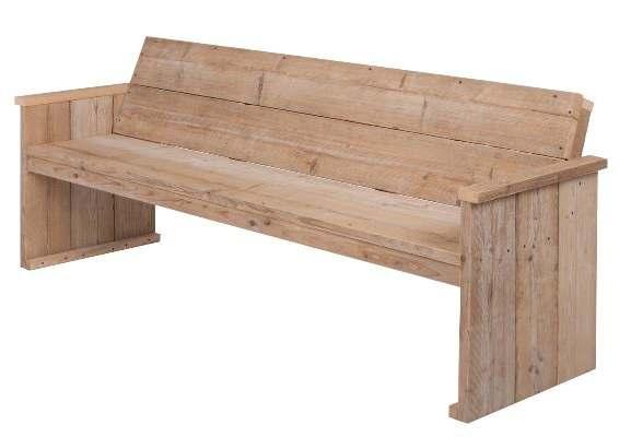 Steigerhout tuinbank maken gratis bouwtekeningen for Houten bankje steigerhout