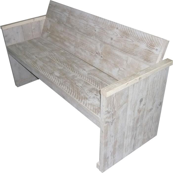 White wash tuinbankje van steigerhout zelf maken