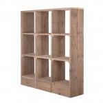 De vakkenkast van steigerhout, gemaakt met de gratis bouwtekening van Jéwé steigerhout importeurs.