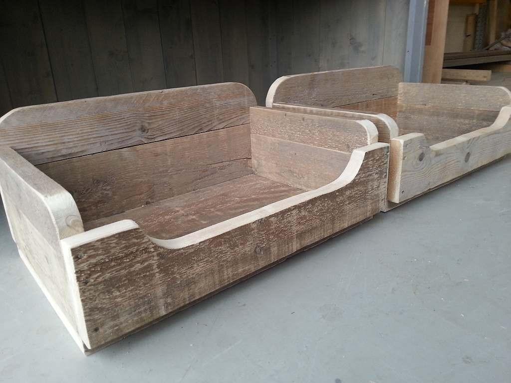 Hondenmand maken van pallets of steigerhout for Foto op hout maken eigen huis en tuin