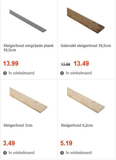 Steigerplanken kopen gratis bouwtekeningen van praxis for Steigerhout praxis