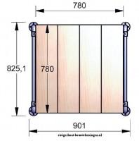 Doe het zelf bouwtekening voor een steigerhouten tafelblad.