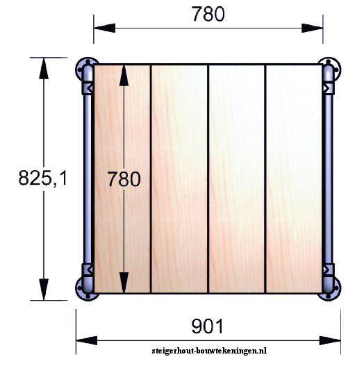 Tafelblad maken van steigerhout voor een salontafel van for Bouwtekening tafel