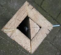 Vierkante tafelpoten monteren voor tafels van steigerhout.