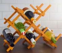Wijnrekje maken voor op tafel of op een kast.