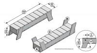 Maak zelf een ligbed voor in de tuin, bed van steigerhout.