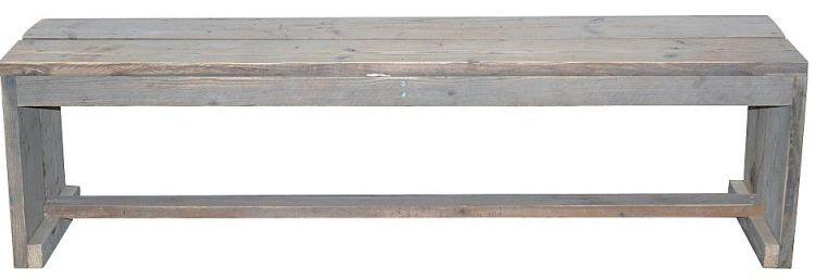Maak zelf een tuinbankje van steigerhout.