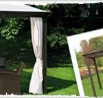 Goedkope paviljoens voor in de tuin.