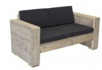 Loungebank bouwtekening voor steigerhout, tuinbank XL.