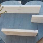 Zelfborende schroeven voor steigerhout.