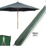 Recycle je oude parasol, koop een nieuw doek.